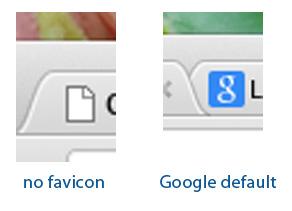 default favicons